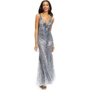 Patra Sequined Full Length Evening Gown, Size 12.